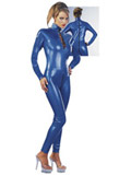 Latex Catsuit blue