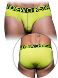 Andrew Christian - Happy Tagless Cotton Stretch Brief - Limette