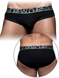 Andrew Christian - Show-It Tagless Cotton Stretch Brief - Black