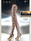 Fiore - Patterned Tights Aurora Black
