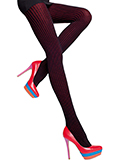 Fiore - Striped Cotton Tights Xara Black/Red