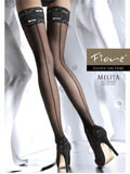 Fiore - Patterned Hold-Ups Melita White