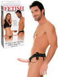 Fetish Fantasy -  Vibrating Hollow Strap On - flesh